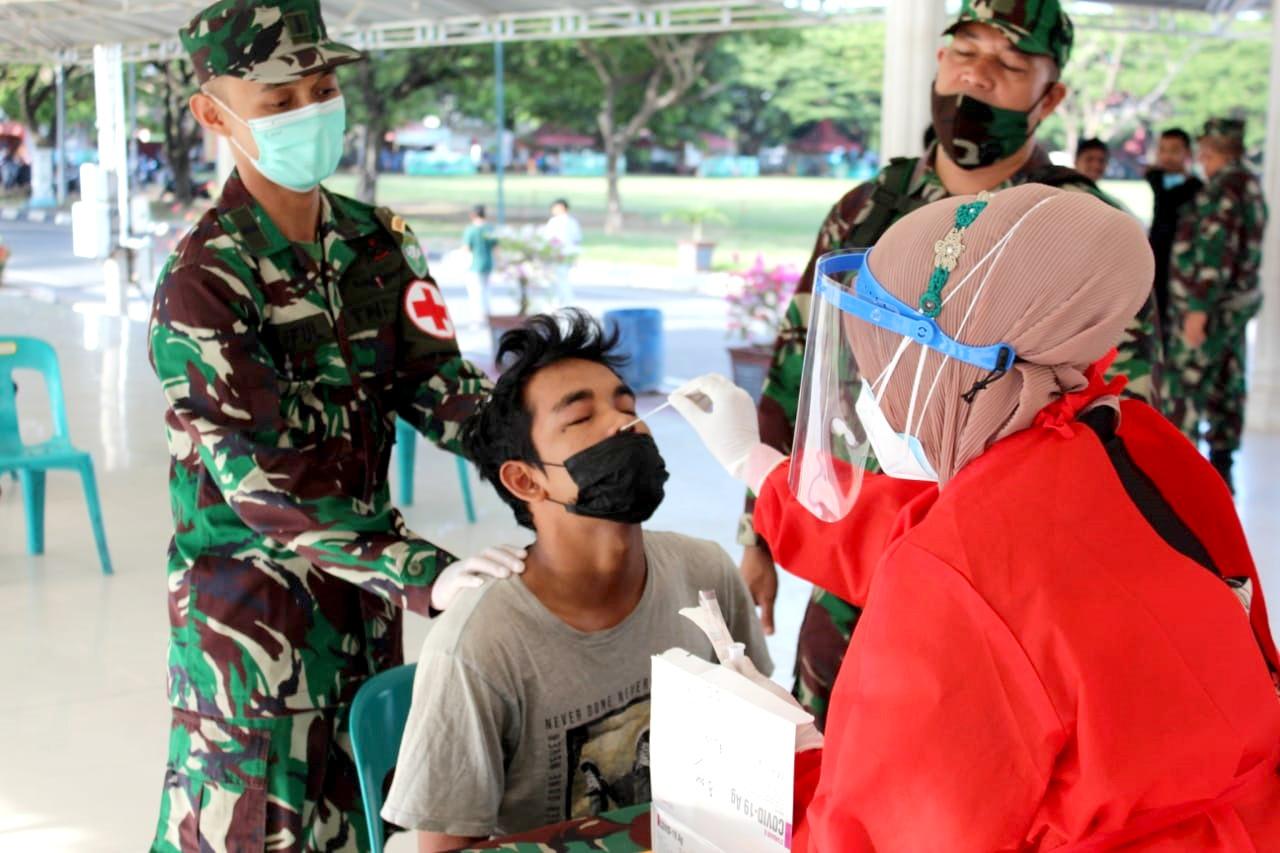 Kodim 0101 Aceh Besar Gelar Swab Antigen Acak Di Blang Padang Banda Aceh Suara Aceh